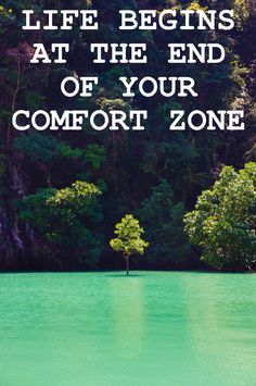 Life begins at the end of your comfort zone #Inspiration #travel