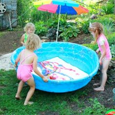 Water Balloon Painting in the Swimming Pool