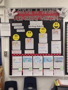 Kindergarten Writing Rubric! Trying to help my kinders self assess and monitor their own learning. Disney theme, standards based bulletin board
