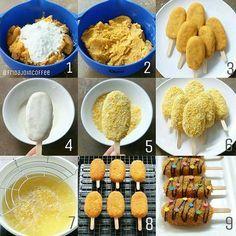 Recipes for Contemporary Fantasy Sweet Potato a la Fridajoincoffee Hitz at IG - Indonesian Desserts, Indonesian Food, Donut Recipes, Snack Recipes, Cooking Recipes, Potato Recipes, Resep Cake, Bolet, Dessert Cake Recipes