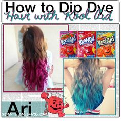 Hello! Ari here with #2 to my Hair Care Series. I know it has nothing to do with taking care of your hair, but it is a fun way to add a pop of color to your hai...