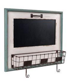 Another great find on #zulily! White Blackboard & Letter Holder Basket by Wilco #zulilyfinds