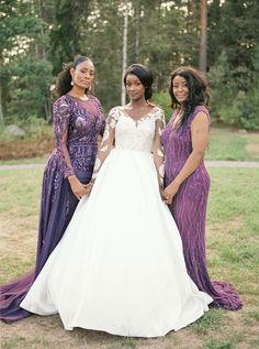 A regal European wedding day fit for royalty with a princess wedding dress, royal purple flowers, and luxe gold accents along with the most stunning stained glass cake! Purple Wedding Guest Dresses, Royal Purple Wedding, Bridesmaid Dresses, Wedding Dresses, Wedding Looks, Wedding Day, European Wedding, Bride Photography, Glamorous Wedding