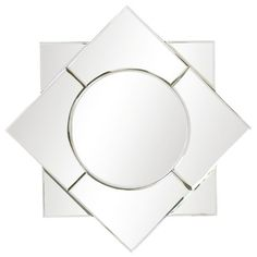 This Art Deco-inspired accent forms a striking eight-pointed star made of continuous beveled Dia x DWipe down with soft cloth and glass cleaner Bungalow 5, Layla Grayce, Modern Loft, Beveled Glass, Contemporary Design, Home Accessories, Mirror, Modern Loft Apartment, Mirrors