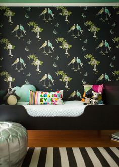 Spotted! Our Draper Strike Black Rug in this stunning + whimsical bedroom.
