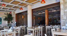 Piato Restaurant in Lassithi Restaurant, Table Decorations, Places, Modern, Greek, Coast, Furniture, City, Beach