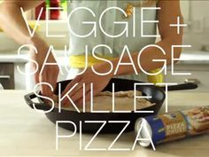 Pillsbury Veggie & Sausage Skillet Pizza