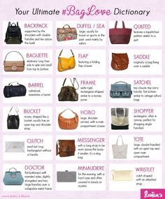 Bag terminology