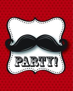 Mustache Madness Invitation, Foldover With Attachment (48/case)