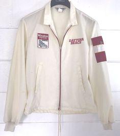 Vintage Jacket SWINGSTER Winston Cup Daytona Beach NASCAR Mens Medium Med M coat #eBayDanna