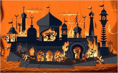 From Graphic Novel: Ramayana: Divine Loophole Happy Dusshera, Hindu Deities, Hinduism, Greek Pottery, Background Drawing, Indian Paintings, Gods And Goddesses, Illustrations And Posters, Indian Art