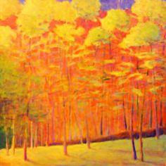 Ken Elliott Loud Autumn I  oil on canvas, 48 x 60 inches