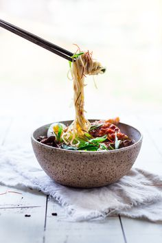Spicy Miso Ramen with Roasted Chili Salmon (or tofu!) and bok choy, mushrooms and scallions. Vegan and Paleo adaptable- swap out zucchini noodles or kelp noodles to keep carbs low. You have walked through fire, survived floods and have triumphed over demons- remember this the next time you doubt your own power.  Jung Pueblo Inward It's...