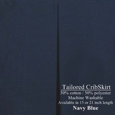 #philanthropy Wow! Super hard-to-find 21 inch long Tailored Cribskirt in #NAVY #BLUE. What a versatile color - will coordinate with MANY nursery decors, and great...