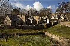 Deserted village of Tyneham. Dorset, England.