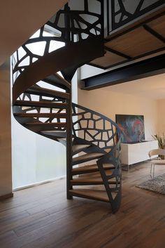 escaleras a medida personalizadas: escaleras de interior de hierro, modelos de escale...