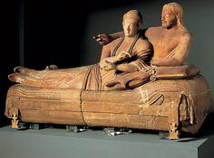"""Todo Arte: ARTE ETRUSCO (S. VIII-III a. Cto.) """"Sarcófago Cerveteri"""""""