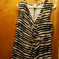 😄A WOMENS Wrap dress ,Amanda Lane sale xl BIG SALE NOW $25 😇😍Black n white zebra print wrap dress Amanda  Lane   Dresses