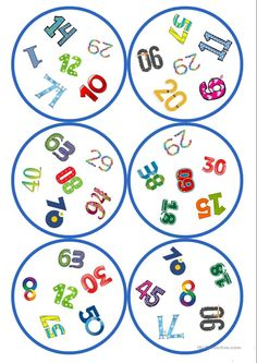 Games in German lessons: Dobble - numbers cards / 6 symbols), Double Game, Handout, Decorative Soaps, English Games, Chinese Words, Learn To Read, Numbers, Kids Rugs, Teaching