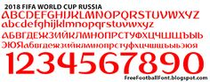 Free Football Fonts: 2018 FIFA World Cup Russia Font Football Fonts, Free Football, Cycling Quotes, Cycling Art, World Cup 2018, Fifa World Cup, Russia World Cup, Women's Cycling Jersey, Cycling Jerseys