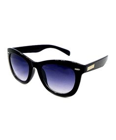 Betsey Johnson Black & Blue Sunglasses by Betsey Johnson #zulily #zulilyfinds