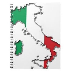Map of Italy Notebook   #Italy #Map #Notebook