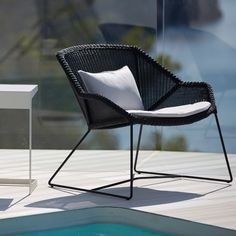 Shop the Breeze Lounge Chair and more contemporary outdoor furniture designs by Cane-Line at Haute Living. Metal Chairs, Patio Chairs, Outdoor Chairs, Outdoor Decor, Contemporary Outdoor Furniture, Outdoor Furniture Design, Deck Furniture, Furniture Ideas, Lounge Chair Cushions
