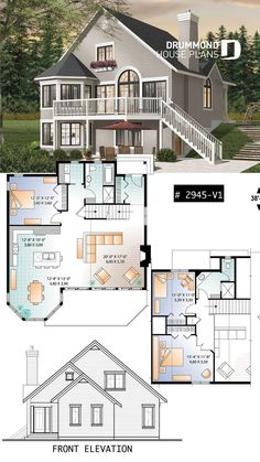 Popular 3 bedroom chalet with mezzanine and conviv. - - Popular 3 bedroom chalet with mezzanine and conviv… – - Sims 4 House Plans, Sims 4 House Building, Basement House Plans, Ranch House Plans, Craftsman House Plans, Modern House Plans, Small House Plans, House Floor Plans, Building Homes