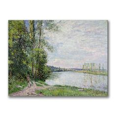 Alfred Sisley 'The Riverside Road from Veneux' Canvas Art - Overstock™ Shopping - Top Rated Trademark Fine Art Canvas