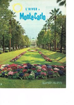 PUBLICITE 1960 L'HIVER à MONTE-CARLO in Collections, Objets publicitaires, Publicités papier | eBay