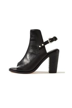 """Rag & Bone's classic Wyatt sandal with black leather. The sling back buckle strap and chunky stacked heel makes the shoe versatile for day or night.  Measurements: 4"""" heel (size 39).  Wyatt Leather Sandal by Rag & Bone. Shoes - Booties - Black Shoes - Booties - Heeled Canada"""