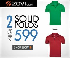 #MyDiscountOffer by ZOVI Offers: 2 Solid Polos at Rs 599  Choose your favorites from the Vibrant Collection of Solid Polos and get 2 for just Rs 599. Hurry, Offer ends soon