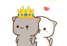 Cute Cartoon Images, Cute Love Cartoons, Cute Cartoon Wallpapers, Pink Wallpaper Anime, Cute Panda Wallpaper, Cute Anime Cat, Cute Cat Gif, Cute Kawaii Animals, Cute Cartoon Animals