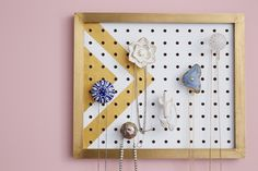 Nix the ho-hum flower bouquet this year. Instead, give Mom a Mother's Day gift that's stylish, useful and long-lasting: A DIY Jewelry Hanger!
