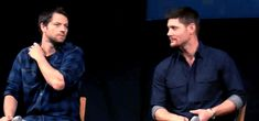 (gif) Misha Collins and Jensen Ackles