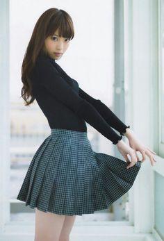 Korean fashion(&Japanese) V-neck knit nine points sleeve dress - Her Crochet Beautiful Japanese Girl, Beautiful Asian Women, Beautiful Beautiful, Japanese Beauty, Cute Asian Girls, Cute Girls, Asian Fashion, Girl Fashion, Pretty Asian