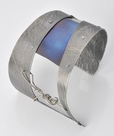 A stunning cuff using Silver and Titanium