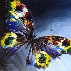 Original #Oil_painting by Gudzenko, butterfly oil painting, contremporary art