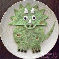 Dinosaur Tortillas and Teddy Bear Pancakes · Edible Crafts | CraftGossip.com