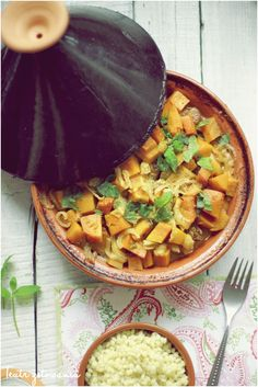 Moroccan tagine with chicken and apricots and how to made harissa at home.
