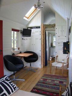 workspace and kitchen