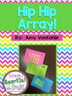 Freebie1  Hip Hip Array!  My students are so excited to start learning about multiplication!  We worked on this activity to further work on rows, columns and repeated addition equations!  AND  I was feeling extra cheesy and made a banner that obviously says .. Hip Hip Array!  :) I hope you enjoy this product!