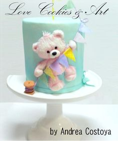 Fondant Dimension Sculped bear.