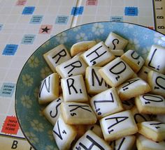 scrabble cookies for a scrabble party!