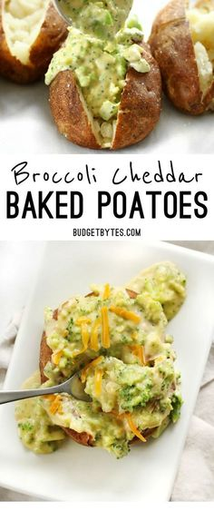 Broccoli Cheddar Baked Potatoes ~ Broccoli Cheddar Baked Potatoes are an easy vegetarian dinner that uses simple ingredients to make a filling and flavorful meal.     ** CLICK PIN TO LEARN MORE! ** | Vegetarian | Vegetarian Recipes | Vegetarian Meals  | Vegetarian Recipes Dinner | Vegetarian Meal Prep | Vegetarian Dinner | Vegetarian Recipes Healthy | Vegetarian Recipes Easy | Vegetarian Recipes High Protein  | #masakanibuku