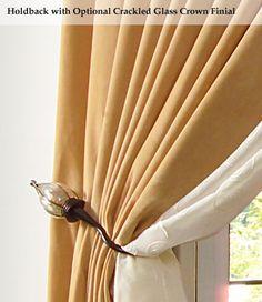 Curtain Holdbacks How To Install A Holdback