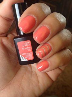 Sensationail past curfew and accent nail using gold me tight #gelnails #nailart #sensationail @SensatioNail