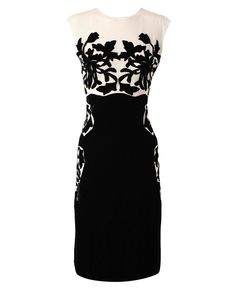 I LOVE this applique dress in black and white!