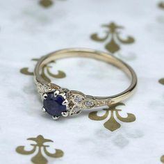 Replica Art Deco Sapphire Engagement ring - 3188-03 #engagementring