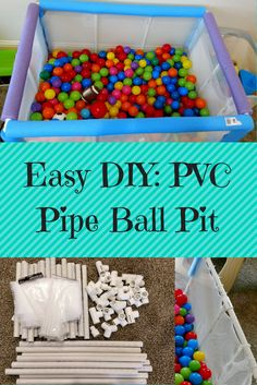 Make your own DIY PVC Pipe Ball Pit for your kids or baby. This ball pit takes . Make your own DIY PVC Pipe Ball Pit for your kids or baby. This ball pit takes . Pvc Pipe Projects, Projects For Kids, Diy For Kids, Baby Boy Toys, Baby Boys, Diy Kids Furniture, Painted Furniture, Furniture Nyc, Furniture Showroom